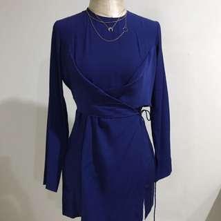 Uniqlo Hana Tajima wrap tunic blouse