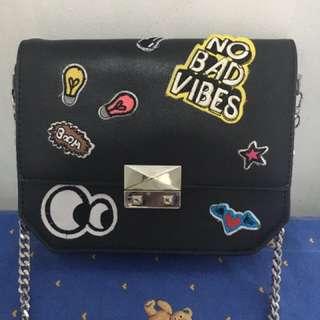 Zara Patched Sling Bag