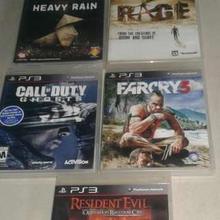 Kaset PS3 Mulus Lancar Jaya : Farcry 3 Heavy Rain COD Ghost Resident Evil Operation raccoon City RAGE