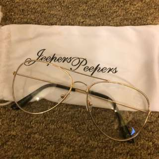 ASOS Jeepers Peepers Aviator Clear Lens Glasses