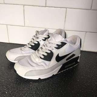 Nike Air Max 90 White And Black Men's Us 8