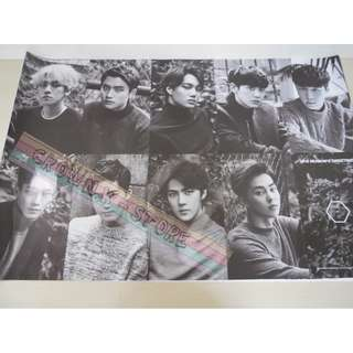 [LAST 1][READY STOCK]EXO KOREA SEASON GREETING OFFICIAL POSTER 1PC SHIP USING TUBE (PRICE NOT INCLUDE POSTAGE)(PLEASE READ DETAILS FOR MORE INFO)
