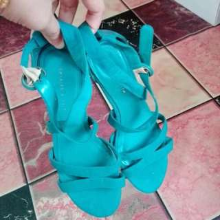 Charles N Keith Wedges in Turquoise