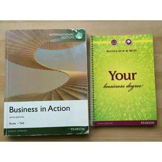 Business In Action and Your Business Degree Textbooks