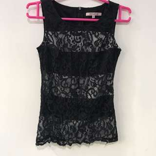 Never Worn REVIEW Lace Top AU6
