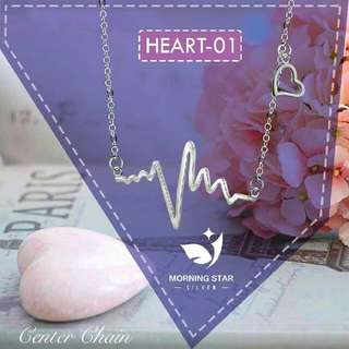 HEART-01 Silver Necklace
