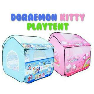 *FREE DELIVERY to WM only / Ready stock* Kids play tent as shown design/color h kitty, doraemon. Free delivery is applied for this item except for certain furniture type.
