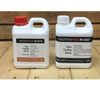 Technirez Crystal Clear Epoxy Resin 2 LTR pack