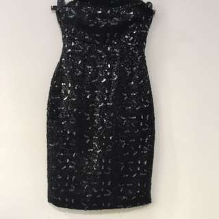 BN BANANA REPUBLIC Strapless Sequin Cocktail Dress
