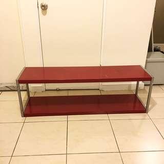 置物架 層架 電視櫃 紅色(二手)