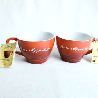 Le Creuset PG8014BA-1167 Stoneware Bistro Mug, 410ml, Red from USA Limited edition
