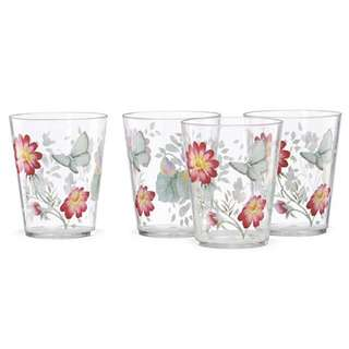 Butterfly Meadow® 4-piece Acrylic Double Old Fashioned Glass Set by Lenox 866237