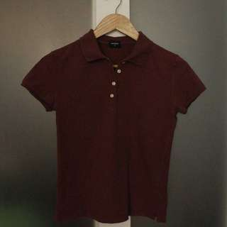 Uniqlo Polo Shirt Maroon