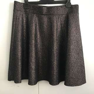 Gunmetal Metallic Skirt