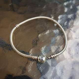 Authentic Pandora Silver 19cm Bracelet