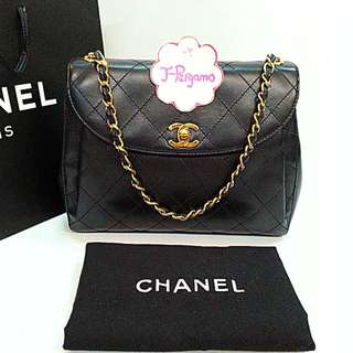 cd3812609f270 Authentic Vintage Chanel Quilted Lambskin Flap Bag With 24K Plated Gold  Hardware