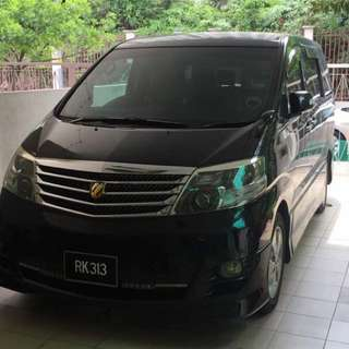 Alphard 2.4 For Rental