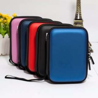 "2nd Gen Portable Hard Disk Drive Shockproof Zipper Cover Bag 2.5"" HDD Hardcase Black / Red / Blue / Pink Carry Case Pouch For USB External SSD Protector Enclosure New"