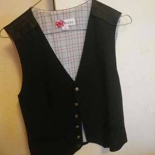 Women's Black Silk Waist Coat