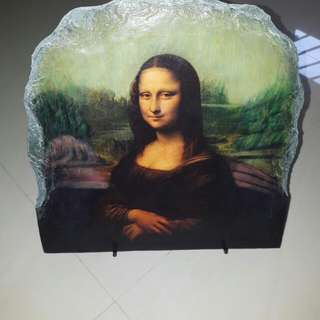 Mona Lisa Painting On Stone Slab