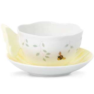 Butterfly Meadow® Yellow Cup & Saucer by Lenox 806725