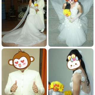 Bridal Gown and Groom's Suit