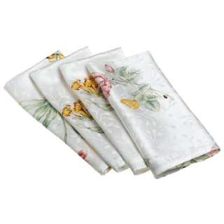 Lenox Butterfly Meadow Napkins Butterfly Meadow Napkin In 6 Pcs
