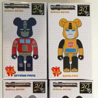 Bearbrick Takara Tomy Transformers Set