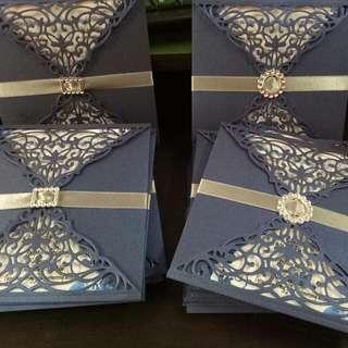 intricate wedding invitation