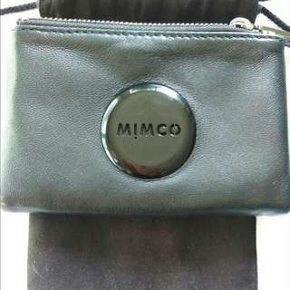 Mimco Petite Fold Wallet Black on Black + VOUCHER