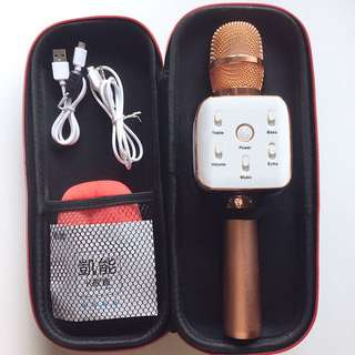 凱能Q8S藍牙麥克風 公司貨 首款Aux輸出外接喇叭 耳機孔 電量顯示