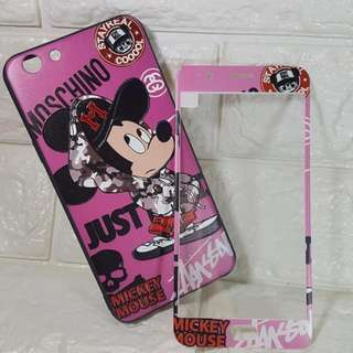 Mickey Mouse Oppo F1s Case with Tempered