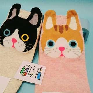 貓咪  襪子 二雙