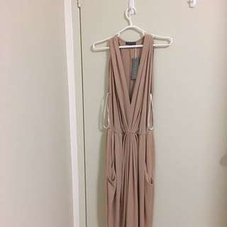 BNWT! Sheike Formal/Wedding/Events Dress In Nude