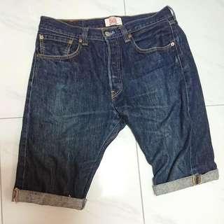Levi's 501深藍牛仔短褲