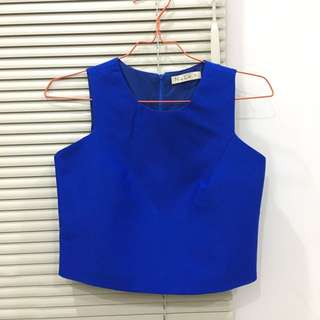 NYLA Crop Top in Blue