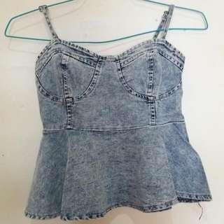Jeans Crop Peplum