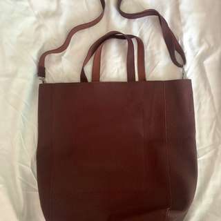 Parisian - sling tote (in wine color)