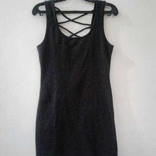 American Dream Gray Bodycon Dress