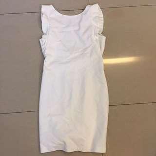 Zara white backless dress