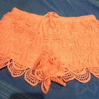 H&M Neon Orange Shorts