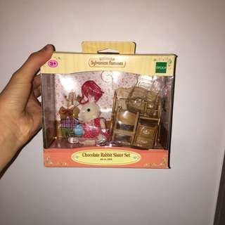 Sylvanian Families Chocolate rabbit Sister Set!!