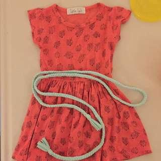 Little Luli Owl Dress Pink