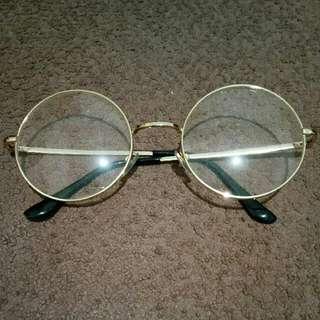 Korean Round Glasses #Gold