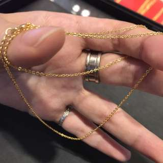 pure gold 999 Necklace size:18吋