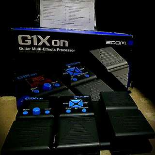 G1xon Zoom GUITAR MULTI-EFFECTS PROCESSOR W/ EXPRESSION PEDAL(RUSH!!! FOR THIS WEEK ONLY)