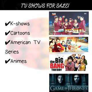 AMERICAN TV SERIES, KSHOWS, ANIMES, PSP GAMES FOR SALE