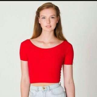 american apparel AA 正品美國帶回 s號 紅色緊身上衣