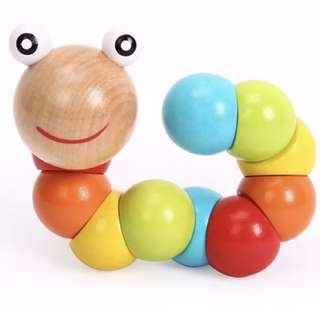 Brand New Colourful Wooden Caterpillar