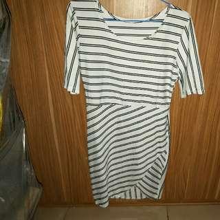 Stripe White Black